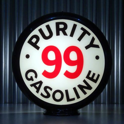 "Purity 99 Gasoline - 13.5"" Gas Pump Globe"