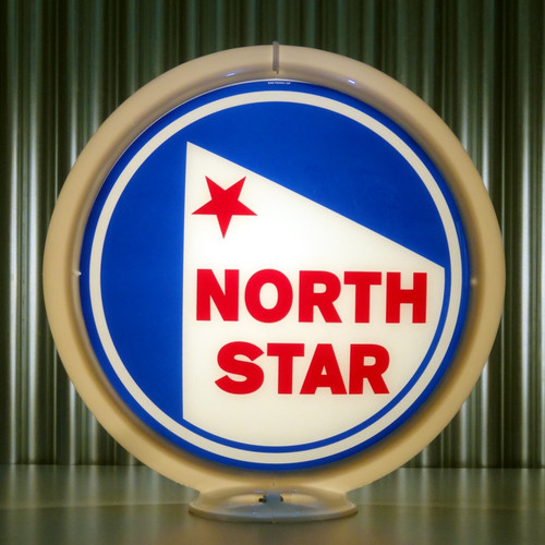 "North Star (Late) Gasoline - 13.5"" Gas Pump Globe"