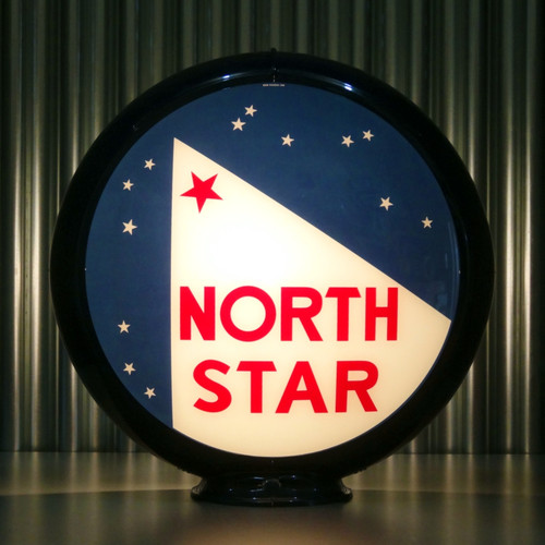 "North Star (Early) Gasoline - 13.5"" Gas Pump Globe"