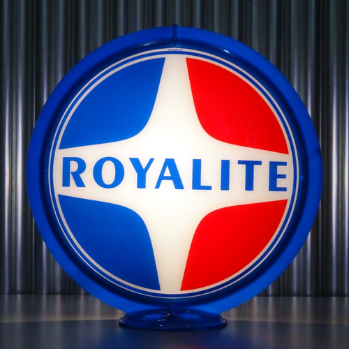 "Royalite (Late) Gasoline - 13.5"" Gas Pump Globe"