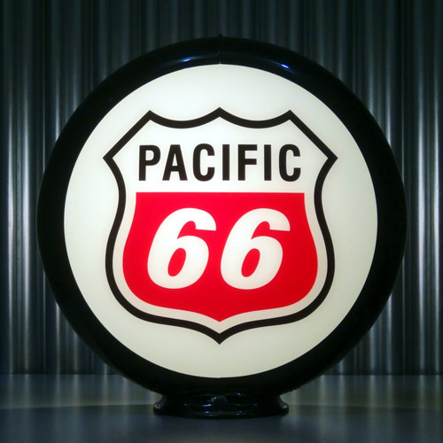 "Pacific 66 Gasoline - 13.5"" Gas Pump Globe"