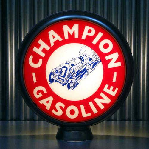 "- 15/"" Gas Pump Globe Lenses Refiners Gasoline Made by Pogo/'s Garage Race Car"