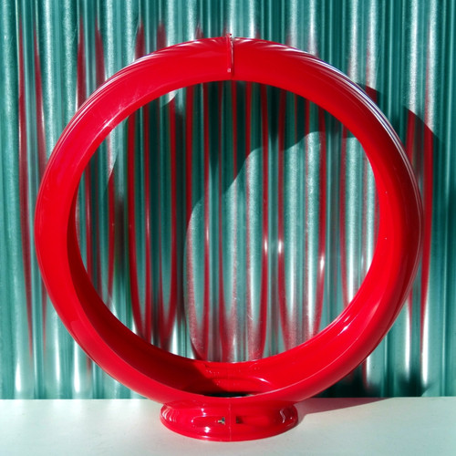 "13.5"" Red Plastic Gas Pump Globe Body 