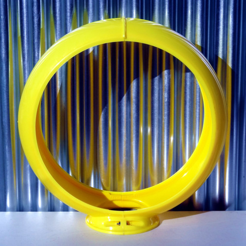 "13.5"" Yellow Plastic Gas Pump Globe Body 