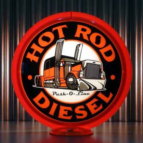 "Hot Rod Diesel - 13.5"" Advertising Globe"