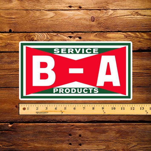 "BA Bowtie Service Products 6"" x 12"" Pump Decal"