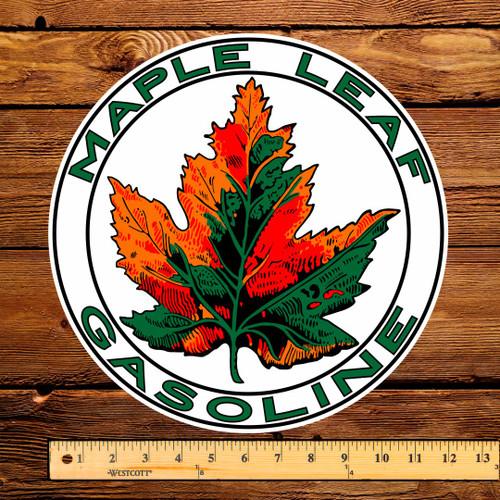 """Maple Leaf Gasoline 12"""" Pump Decal"""