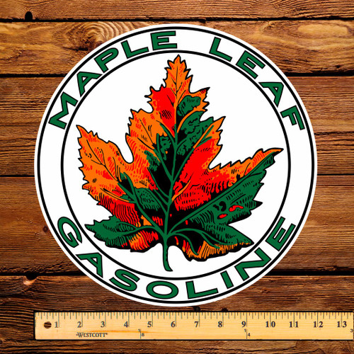 "Maple Leaf Gasoline 12"" Pump Decal"