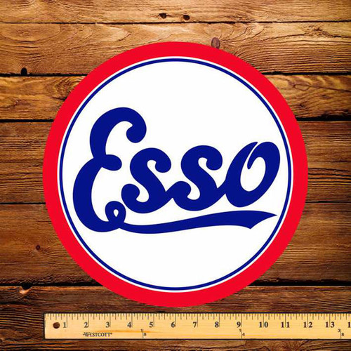 "Esso Script 12"" Pump Decal"