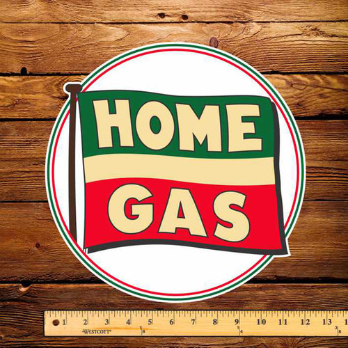 """Home Gas of BC 12"""" Pump Decal"""