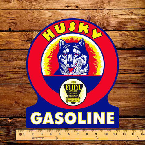 "Husky Ethyl 10"" x 12""  Pump Decal"