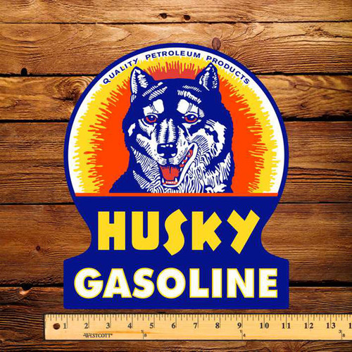 "Husky Gasoline 10"" x 12"" Pump Decal"