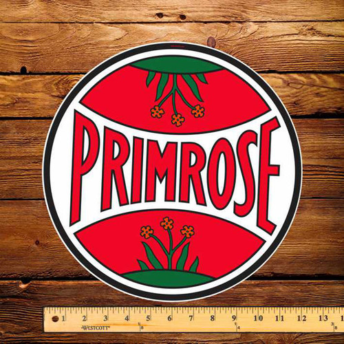 "Irving Primrose 12"" Pump Decal"