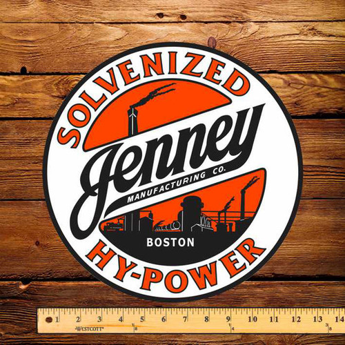 "Jenney Solvenized Hy-Power 12"" Pump Decal"