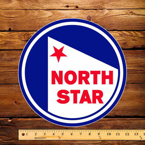 """North Star (Late) Gasoline 12"""" Pump Decal"""