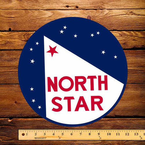 "North Star (Early) Gasoline 12"" Pump Decal"