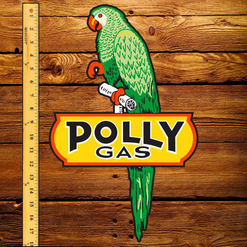 "Polly Gas 11.2"" x 17.9"" Pump Decal"