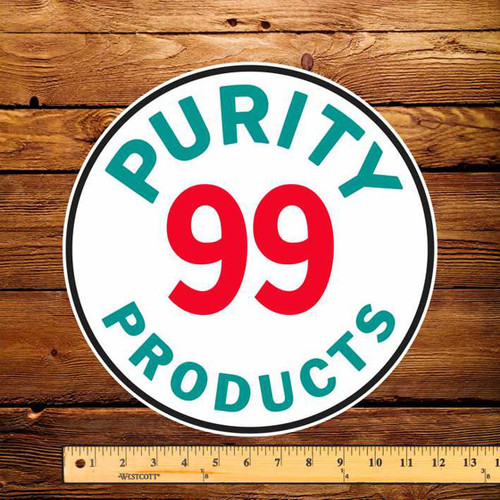 "Purity 99 Products 12"" Pump Decal"
