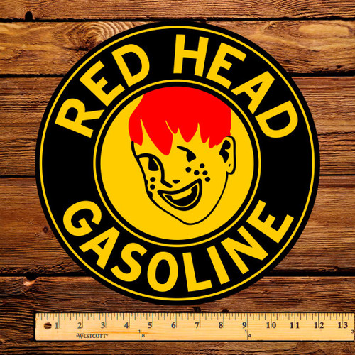 """Red Head Gasoline (Early) 12"""" Pump Decal"""