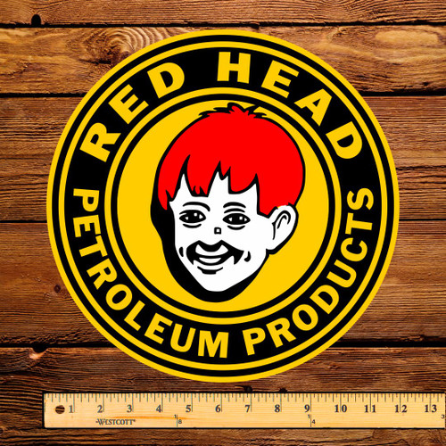 "Red Head Petroleum Products 12"" Pump Decal"