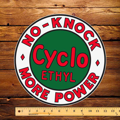 "Red Indian Cyclo Ethyl 12"" Pump Decal"