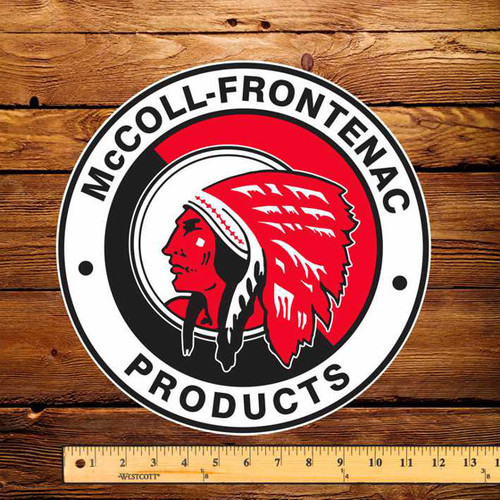 "Red Indian (Round) 12"" Pump Decal"