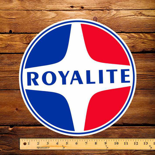 "Royalite (Round) 12"" Pump Decal"