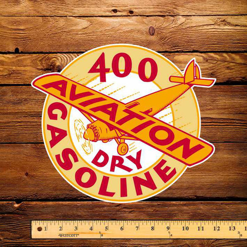 "Shell 400 Dry Gasoline 10"" x 12"" Pump Decal"