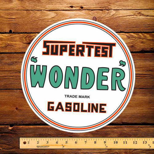 "Supertest Wonder Gasoline 12"" Pump Decal"