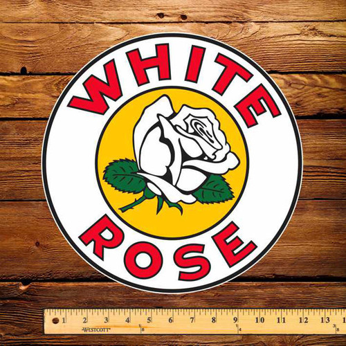"White Rose Gasoline 12"" Pump Decal"