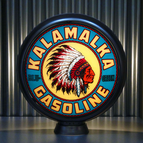 """Kalamalka Blu-Green Gasoline 15"""" Limited Edition Gas Pump Globe"""