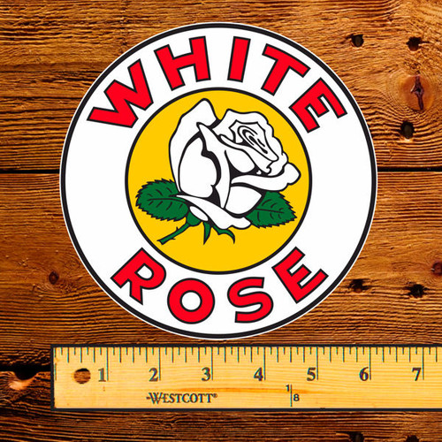 """White Rose Gasoline 6"""" Lubester Decal"""