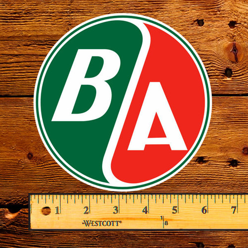 "BA British American Oil 6"" Lubester Decal"