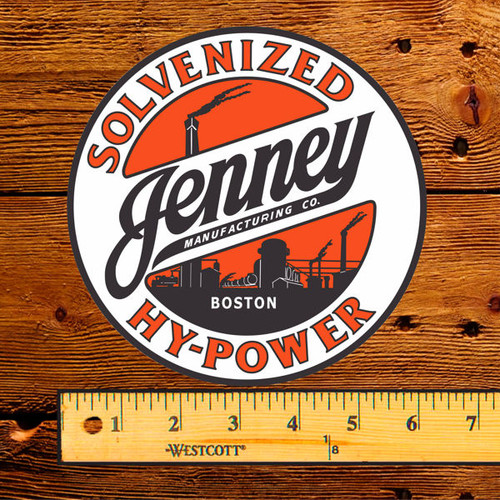"Jenney Solvenized Hy-Power 6"" Lubester Decal"