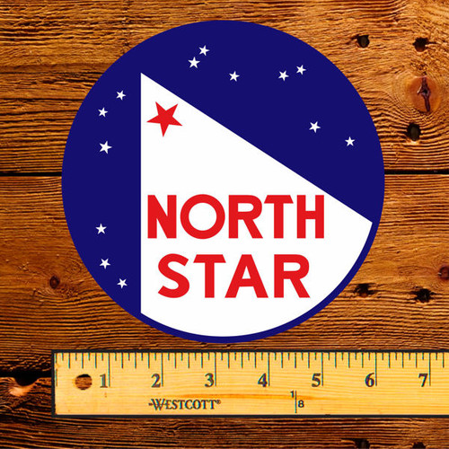"North Star Gas with Stars 6"" Lubester Decal"