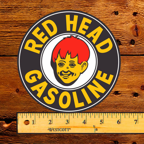 "Red Head Gasoline 6"" Vinyl Decal"