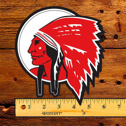 "Red Indian Motor Oil (Texaco) 6"" Lubester Decal"