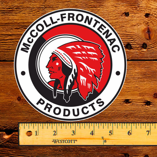 "Red Indian (McColl Frontenac) 6"" Lubester Decal"