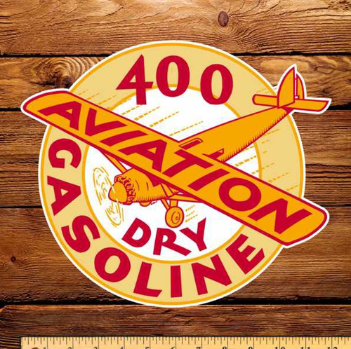 "Shell 400 Dry Gasoline 4"" Aviation Decal"