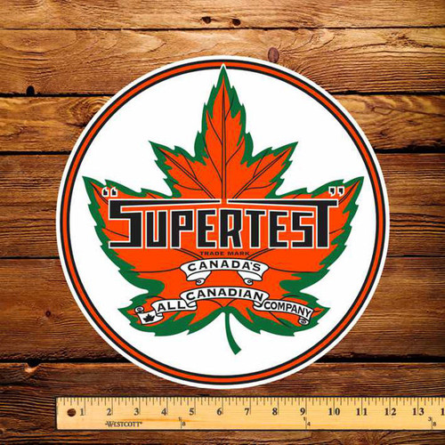 "Supertest Leaf Gasoline 12"" Pump Decal"