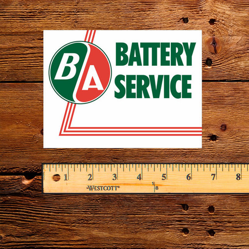 BA British American Battery Service Decal