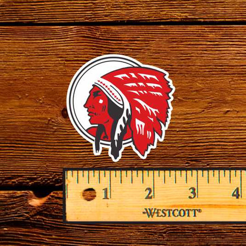 "Red Indian (Late) 2.5"" Oil Bottle Decal"