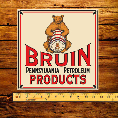 Bruin Pennsylvania Petroleum Products Pump Decal