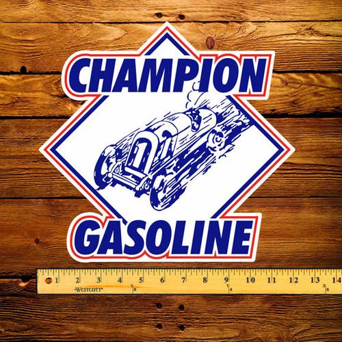 "Champion Gasoline 12"" Pump Decal"
