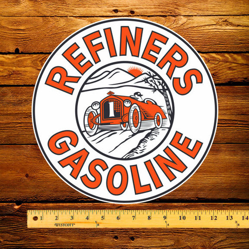 "Refiners Gasoline 12"" Pump Decal"