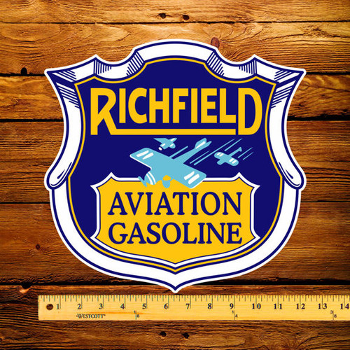 "Richfield Aviation Gasoline 12"" Pump Decal"