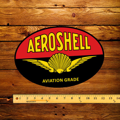 "Shell Aeroshell Gasoline 12"" Pump Decal"