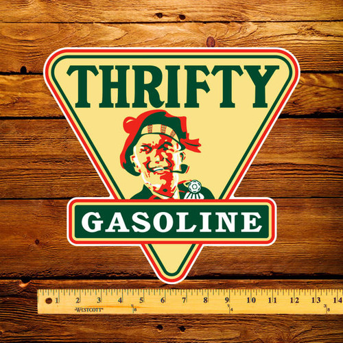 "Thrifty Gasoline 12"" Pump Decal"
