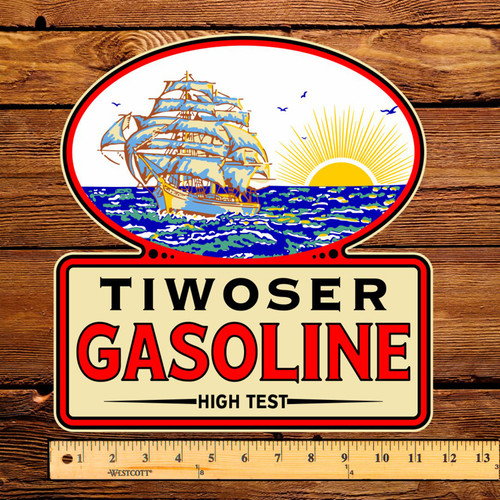"Tiwoser Gasoline 12"" Pump Decal"