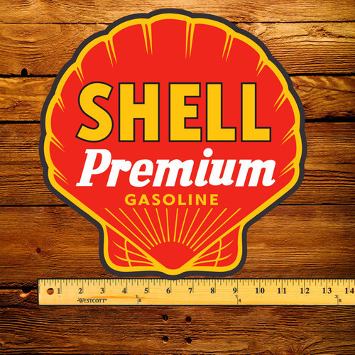 "Shell Premium Gasoline 12"" Pump Decal"